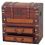 Vintiquewise dekorativer Holz Kommode mit Schubladen, Antik Braun
