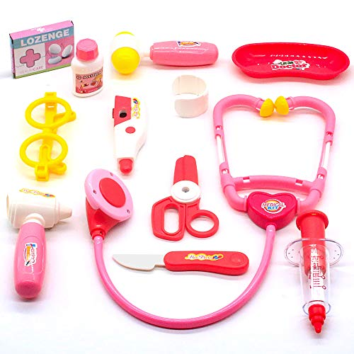 Médico de Juego Rosado Médico Doctora Juguetes Maletin Médico Juguetes Juego de Medicos con Luz y Sonido para Niños