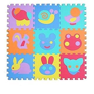 Aardvark Art Kinder Puzzlematte Pielpolster robuster Spielteppich Spielmatte Schaumstoffmatte mit Schall-Dämmung Baby Krabbelmatte Spieldecke (Animal Zoo)
