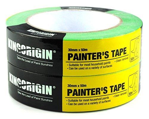 4640277d549 KingOrigin Painters Tape 1.18-Inch by 54.6 Yards(30mm x 50m) 2 piece