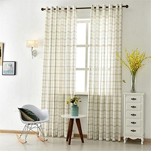 GUOCAIRONG® Tulle Vorhänge für Schlafzimmer Tulle Fenster Vorhänge für Wohnzimmer Küche Modern Sheer Voile Blinds Drapes 1 Stück , green , 3.5*2.7m Blinds 55 Mm