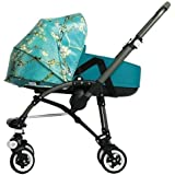 Bugaboo Bee3 Bassinet Tailored Fabric Set - Van Gogh & Petrol Blue by Bugaboo