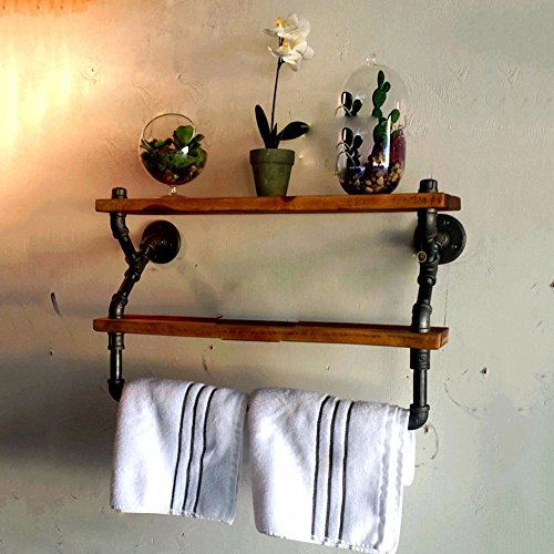 JY kreative industrie umhauen rack rack rohr handtuch bügel retro - wand art massivholz partition board,archaize farbe,50 * 20 x 50 cm