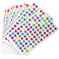 NUOLUX Pack de 960pcs 1cm autoadhesivo colores surtidos láser brillantes estrella pegatinas niños estudiantes recompensas profesores suministros