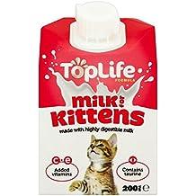 Top Life lactosa reducido le leche de vaca para los gatitos 200 ml (lote de