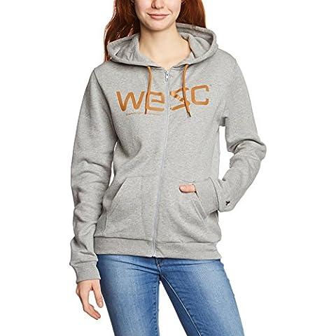 WESC Hoody - Sudadera con capucha para mujer, color gris, talla L