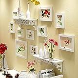 TAO Mur de cadre Collage de cadre photo mur photo cadre photo Collage 10 cadre photo mur solide mur photo mur mur ( Couleur : Blanc )