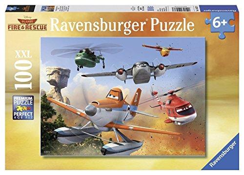 Preisvergleich Produktbild Ravensburger 10537 - Disney Planes: Im Kampf gegen das Feuer - 100 Teile XXL Puzzle