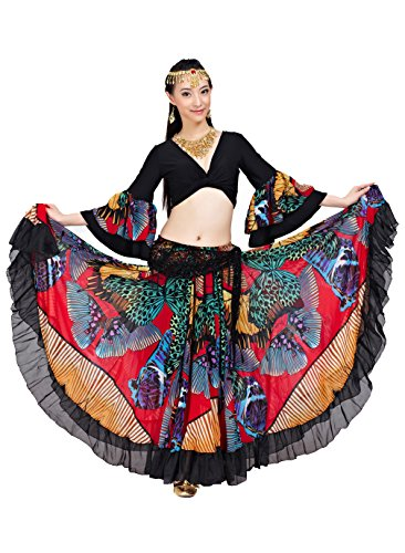 dance-fairy-tribal-gypsy-25-yards-720-degree-red-belly-femmes-danse-chiffon-top-jupe-longue-rouge
