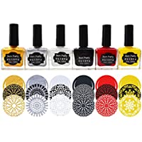 Born Pretty - Set de 7 botellas de esmalte de uñas para estampar, ...