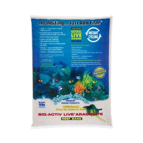 Nature's Ocean No.0 Bio-Activ Live Aragonit Sand für Aquarium, 4,3 kg, Naturweiß (Sand Reef Live)