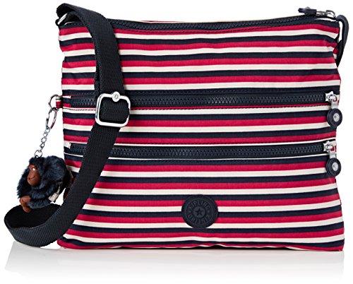 Kipling Alvar, Damen Umhängetasche, Multicolour (Sugar Stripes), 33x26x4.5 cm (W x H x L) -