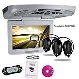 """XTRONS 11"""" Overhead Car DVD Player Roof Flip Down with Swivel HD Screen"""