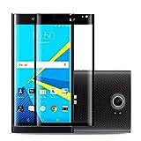 BlackBerry PRIV protection d'écran en verre trempé  3d Couverture complète protection d'écran 9H] [résistant aux rayures] [sans bulles] [ajustement Parfait pour BlackBerry PRIV