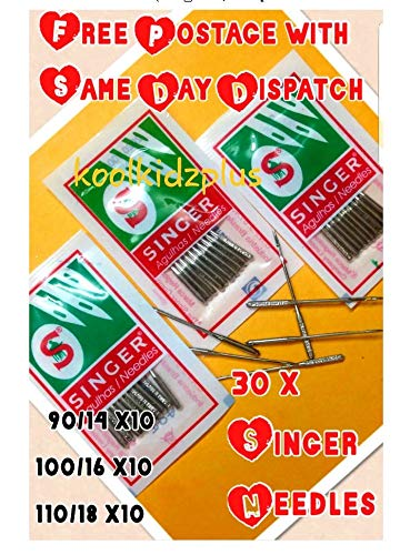 3 lotes 10 agujas máquina coser doméstica, marca