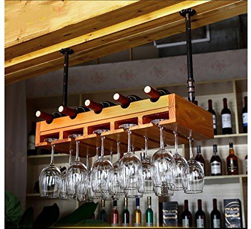 Wine racks Estante del Vino de la Madera sólida Europea/Estante Creativo del Vino, sostenedor de la Copa de Vino, sostenedor invertido de la Copa de Vino de la Personalidad Botelleros