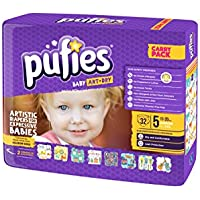 Pufies Baby Art Dry Cameras - 64 Pañales, talla 5, 11-20 kg