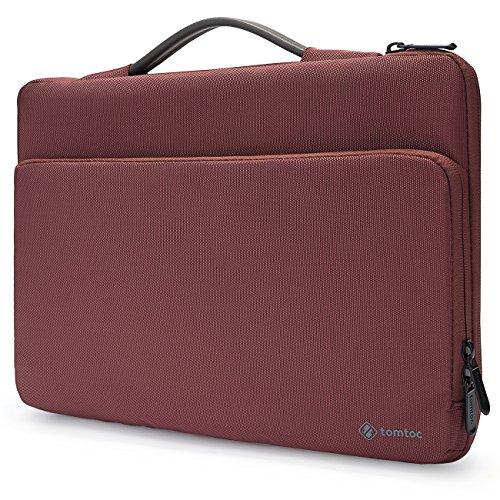Tomtoc Housse de Protection à 360° Saoche pour 14 Pouces Lenovo Thinkpad |Sac Cartable 14 Pouces HP Acer Chromebook, Femmes, Rouge