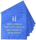 """paperp Rod ucts Diseño Servilletas de papel (20unidades) Bier ist der Beweis, dass Gott uns liebt (La cerveza es prueba de que Dios nos ama) 5"""" x 5"""" multicolor"""
