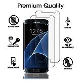 Hoperain Galaxy S7 Displayschutz, [2.5D arc][9H Härte][Anti-Fingerprint][High-Definition] Glas Displayschutz für Samsung Galaxy S7-2 Pack
