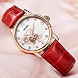 Lnyy High-End Ladies Watch Orologio Meccanico Automatico epidermide Femminile con Impermeabile
