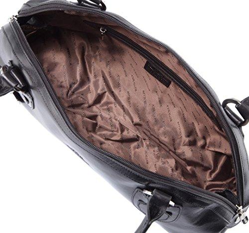 Sac Sac Femme pour Femme Blanche, 10x 35,5x 20cm, cuir naturel, cuir, 35-4-530-x, noir (Noir) - 35-4-530-1 noir