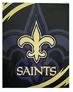 nfl new orleans saints decke king size saints pl sch decke 200cm x 91cm spielzeug. Black Bedroom Furniture Sets. Home Design Ideas