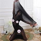 Fxwj Donna Intimo erotico tentazione avvolgere il corpo calze trasparente pigiama Bodystocking collant , black