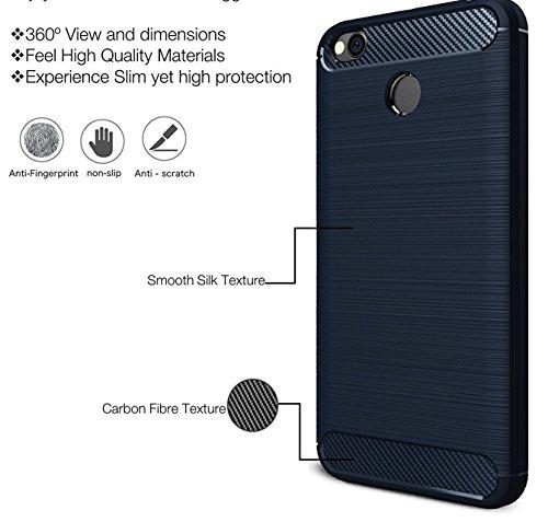 quality design b5a5d bd086 Shop Buzz Candy Soft Original Rugged Armor ShockProof TPU Back Case for  Xiaomi Mi Redmi 4 Mobile Phone May 2017- Metallic Blue Colour