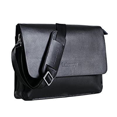 Lalawow sac sacoche bandoulière pour homme femme en PU cuir