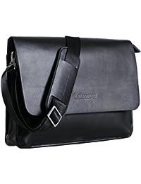 Lalawow maletín de piel para hombres bolso de mensajero maletín para portátil