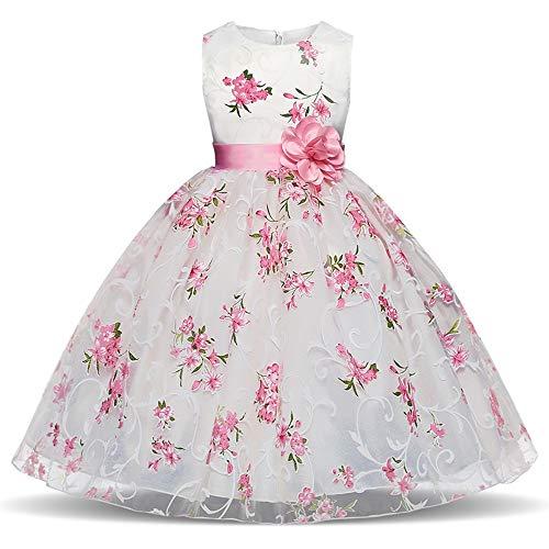 MRURIC Kinder Mädchen Floral Princess Floral Gown Party Tutu-Kleid,Garn Rock modegedruckten Hemd Kleid Kleidung setzen Hemdkleid Baby Kleid Tanzkleidung Ballkleid Partykleid