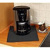 Firemat Black Edition Feuerfestes Universal Schutztuch, Die Brandschutz- und Sicherheitsunterlage, Bescheinigt nach DIN EN ISO 11925-2, geeignet für Kaffeemaschinen, Induktionsherd (Hitzebeständig bis 300 Grad) - Bescheinigt nach DIN EN ISO 11925-2 (33x33 cm)