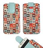 emartbuy Gadgets Premium-Pu-Leder-Slide In Case Abdeckung Tashe Hülle Sleeve Halter (Größe 5XL) Mit Zuglaschen Mechanismus Geeignet Für Die Unten Aufgeführten Smartphones