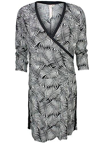 Broadway NYC Kleid Isadora Black Palm Schwarz/Weiß