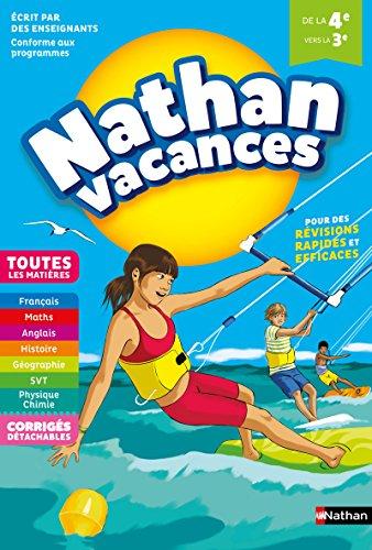 Cahier de Vacances 2018 de la 4me vers la 3me, toutes les matires - Nathan Vacances collge