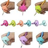 LCLrute 3 Teile / satz Kinder Stifthalter Stift Schreibhilfe Grip Haltung Korrektur Werkzeug Neu (A)