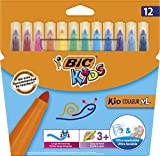 BIC Kids Kid Couleur XL rotuladores Punta Ancha - colores Surtidos, Caja de 12 unidades