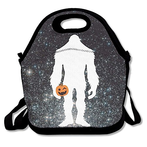 (Men Women Teens Food Lunch Tote Bigfoot Halloween Picnic Travel Portable Reusable Handbag Bags Boxes Lunchbox Outdoor Totes)