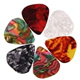 6pcs GUITAR PICKS Plectrums for electric, acoustic & bass 0.46 mm by Trading dukan