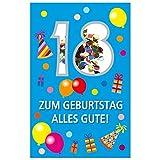 Susy Card 40010298 Grußkarte Geburtstag18. Geburtstag - Luftballons17 x 11 x 0, 4 cm