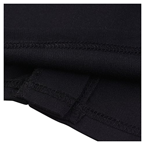 Miusol Damen Kleid Mit 3/4-Arm Hahnentritt Muster mit Reissverschluss vorne?Business Abendkleider Schwarz EU 38/M -
