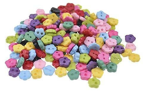 FiveSeasonStuff® Lot de 200Assortis en résine acrylique 2trous couture boutons,