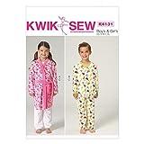 Kwik Sew Kinder Leicht Schnittmuster 4131Bademantel & Schlafanzug + Gratis Minerva Crafts Craft Guide