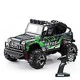 VATOS (Verbessert) RC Modell Auto 1:22, Elektrischer RC Offroad Jeep, ferngesteuertes Auto mit 40km/h Highspeed, 4x4 Antrieb, 2.4GHz Fernsteuerung bis 50m, 4WD RC Monster Truck Buggy mit LED Licht