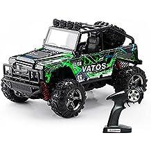 (Actualizado) Vatos RC Coche RC Jeep Off Road 1:22 Coche teledirigido de alta velocidad 4x4 Carro 4WD RC Carro Monstruo Buggy Rock Crawler 40 km/h Radio Controll 50m Big Toy Racing Vehículo eléctric