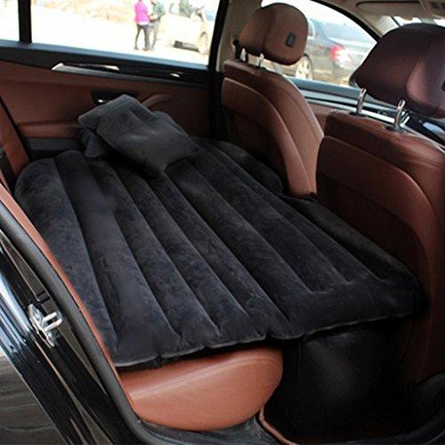 SUV Auto Air Bett Camping Reise Aufblasbare Matratze Portable Dicker Rücksitz Mit Elektropumpe Und Kissen 136 * 90 * 44 Cm ( Farbe : Schwarz , größe : No block )