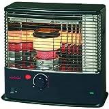 Zibro  - Rc 320 estufa de combustible mecánica, 20,3 kw, piezoeléctrico, tf, 44 metros cuadrados, de acero inoxidable / negro