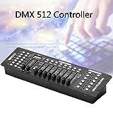 UKing 192 Kanäle DMX512 Controller Konsole 240 Szenen für Bühnenbeleuchtung Party DJ Disco Operator Ausrüstung