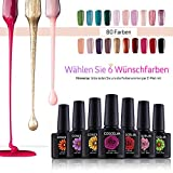 Coscelia 6pc UV Gel Farbgel 10ml Nagelgel Nagel Farbgel UV Nagellack Gellack Set(mit Option)